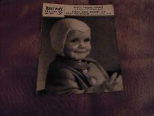 BESTWAY Leaflet No. 705-Baby@s hats – original 1940s pattern