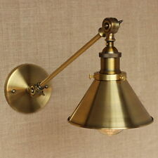 Antique Gold Long Swing Arm Wall Lamp Illumination Sconce Light Lighting Fixture