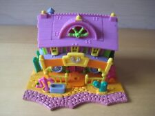 Vintage  Bluebird Polly Pocket POPUP WESTERN HORSE RANCH HOUSE Compact playset