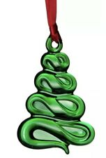 """Orrefors Holly Days """"Christmas Tree"""" Ornaments - Green"""