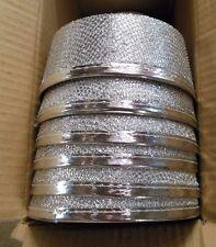 Lot of 6 Silver Lurex pillbox hats felt base Dance Theatrical Use Bellhop