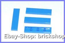 LEGO 4 x carrelage bleu (1 x 4) - 2431-Tile Reddish Blue-Neuf/New