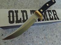 "SCHRADE OLD TIMER 160OT  5"" MOUNTAIN LION HUNTING  KNIFE LEATHER BELT SHEATH"