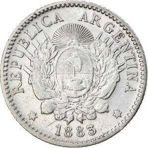 [#897292] Coin, Argentina, 10 Centavos, 1883, EF, Silver, KM:26