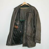 COLEMANS USA 80s Vintage Brown Leather Biker Jacket Distressed Size US 50 2XL