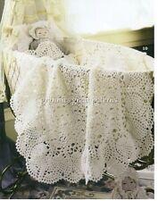 Beautiful Baby Blanket / Throw /Afghan Pineapple Border 4 ply CROCHET PATTERN