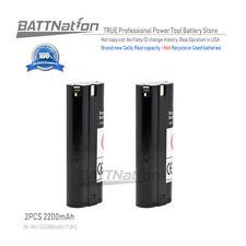 2x 2200MAH NiMh 7.2V Battery for MAKITA 191679-9 192532-2 3700D 4071D 6010D