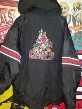 Vintage Starter Phoenix Coyotes Arizona Puffer Jacket w/ Hood Size Men's L rare