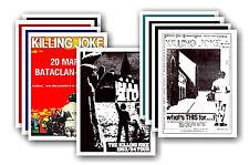 KILLING JOKE - 10 promotion poster - sammelbar postkarte set # 1