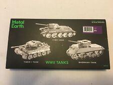 NEW Metal Earth Mixed Model Kits - 3x One Gift Box - Tiger 1 / T-34 / M-4 tanks
