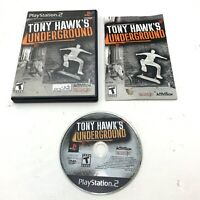 Tony Hawk's Underground (Sony PlayStation 2 PS2 2003) Black Label Tested Working