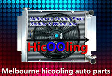 Aluminum radiator + Fan for Mazda RX2 RX3 RX4 RX5 RX7 with heater pipe Manual