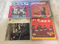 "THE ROLLING STONES LOT OF 4 EP RECORD 7"" VINYL JAPAN F/S HEART THUMB BLACK SATIS"