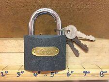 Tri Circle Lucchetto in ottone Anello temprato 60mm 3 chiavi Porta Capanno bicicletta scatto