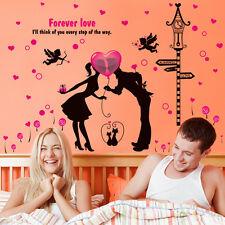Romantic Valentine Wallpaper Room Removable Cartoon Decorative Wall Sticker