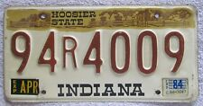 Indiana 1984 LAKE COUNTY License Plate NICE QUALITY # 94R4009