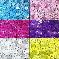 Pearlised Resin Buttons - Bags Assorted Colours - 25mm