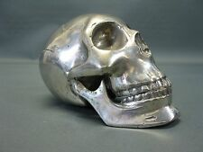 Metal Skull Silver Plated Paperweight Skull 18 CM Paperwight Unique