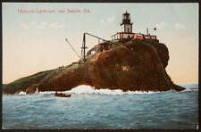 Tilamook Lighthouse near  Seaside, Ore., #3961, Made in Germany, printed postcar
