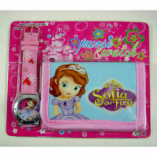 Princess Sofia the First Children's Wrist Watch & Purse Wallet Set For Kids Boys