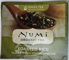 Numi Organic Tea Toasted Rice Green Tea Medium Caffeine 40 individual packages