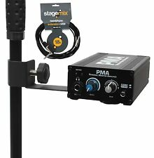 Personal Monitor Amplifier for Earphone Headphone + 18' Ext Cable by Elite Core