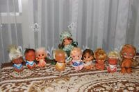 Vintage Doll Set of 10 Moodie Cuties Laughing Crying Dolls Lot Hong Kong