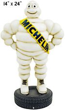 """Michelin Tire Gas Station Reproduction Laser Cut Out Garage Shop Sign 14""""x24"""""""