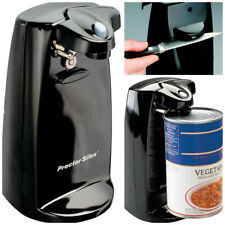 Durable Power Can Opener with Built In Knife Sharpener Black Electric Countertop