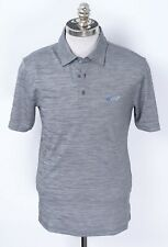 NWT ATTACK LIFE by Greg Norman Heather Grey 3Btn Casual S/S Polo Golf Shirt M