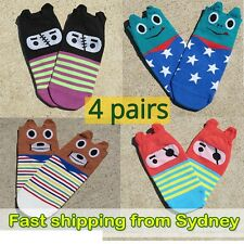 Funny cute sock collection - 4 pairs - Frog Bear Gangster Pirate socks