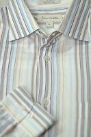 John W. Nordstrom Men's Spring Pastel Stripe Cotton Casual Shirt L Large