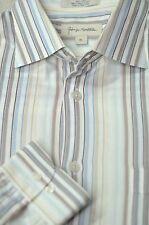 John W. Nordstrom Hombre Primavera Pastel Rayas Algodón Camisa Informal L