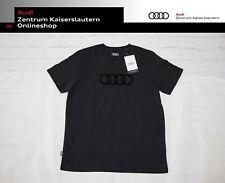 Audi Herren T-Shirt schwarz kurzarm Rundhals 313170180 Shirt Audi Ringe Logo