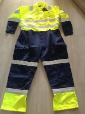 """Gryzko hi vis overalls two tone blue yellow. Cal. 44"""" 46"""" r"""