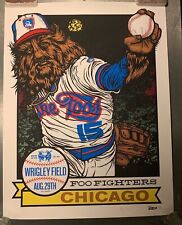 Foo Fighters Chicago 2015 Aug,29th Wrigley Field Ames Bros variant poster.