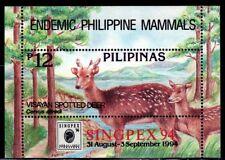 SELLOS FAUNA FILIPINAS 1994 HB 79 CIERVOS 1v.