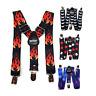 SpiriuS Kids Children Trouser Braces Suspenders Y shape Strap Pants Elastic belt