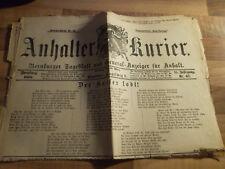 Anhalter Kurier #67 vom 18.03.1888 Gedicht für Kaiser Wilhelm I.- Dreikaiserjahr