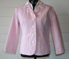 J.G. HOOK 12 Pink & White Seersucker Striped Blazer
