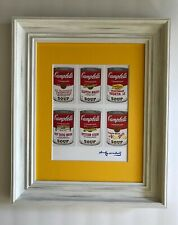 ANDY WARHOL ORIGINAL 1984 SIGNED CAMPBELL'S PRINT MATTED TO BE FRAMED AT 11 X 14