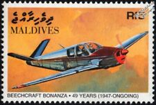 BEECHCRAFT BONANZA S35 Civil Light Utility Aircraft Stamp (1998 Maldives)