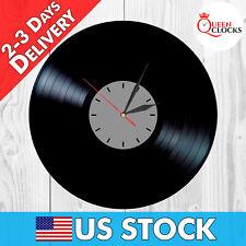 NEW Vinyl Record Wall Clock Grey Vintage Decor Home Gift Designer LP Modern Art