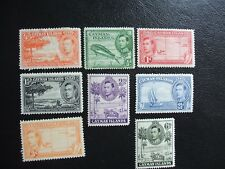 Cayman Islands SG115-119 & SG120-122 1938-48 Local Views. Mint Hinged. Cat 21.10