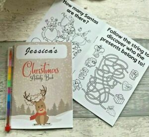 Christmas Eve Box Fillers, Activity Pack For Kids, Colouring Book Puzzles Games