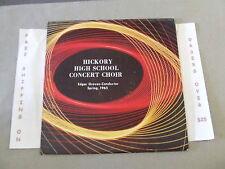 HICKORY HIGH SCHOOL, HERMITAGE PA. CONCERT CHOIR 1965 EDGAR GROVES CONDUCTOR