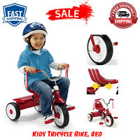 Kids Tricycle Bike Toddler Outdoor Velocipede Foldable Trike Fully Assembled New