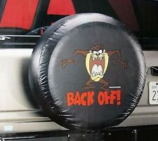 """Universal Black TAZ BACK OFF Spare Tire Cover Wheel 27"""" - 31"""" New Free Shipping"""