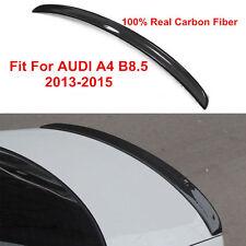 S4 TYPE CARBON FIBER REAR TRUNK LIP SPOILER Fit For AUDI A4 B8.5 SEDAN 2013-2015
