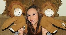 """LION Plush Stuffed Animal Alley TOYS R US Jungle King LOT OF 2 HUGGING 12"""" LOVEY"""